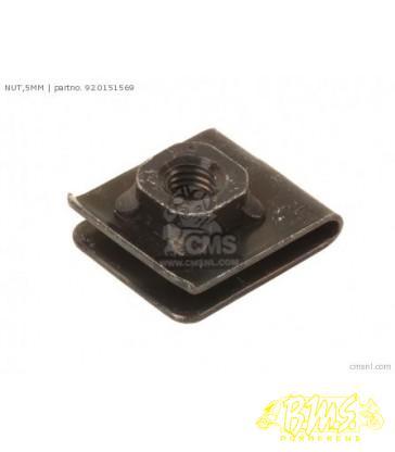 17.15x13x10 boutplaatje bout 4mm Kawasaki zx750-h1