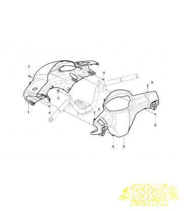 Stuur spoiler Aprilia - SR 50 MOTARD 2T 2012-2014 (2013)
