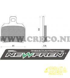Gilera Remblokset NEWFREN FD0330 met half oog