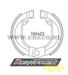 Remsegmentenset NEWFREN GF0245  Voorrem met oog bevestiging / draaipunt