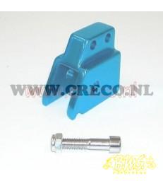univ schokbrekerverlenger gaten ø8mm mod. tnt minarelli blokken  horizontaal +vetikaal scooter blauw