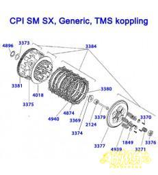 Kopplingskorghuis - CPI, Generic, TMS SM SX Trigger, TMS Motard,