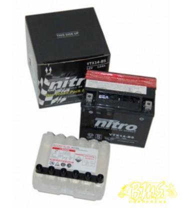 YTX14-BS 12 AH Accu Nitro 150x87x145 mm zuurpakket