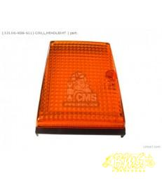 REFLECTOR oranje  met houder Links Honda LEAD 125CC (LT)