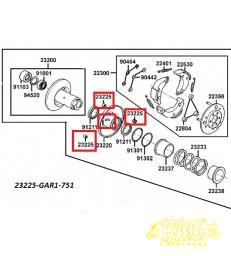 Koppeling geleide pen Honda 23225-KM1-010