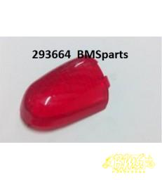 Piaggio velofax linker achterlichtglas rood origineel 293664