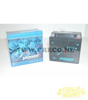 Accu Jel ACCU GTZ7-S 6 AMP 1E KW POWER1 B11,2cm x D7cm x H10,5cm