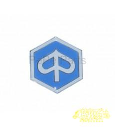 Embleem sticker Piaggio dik 6-kant