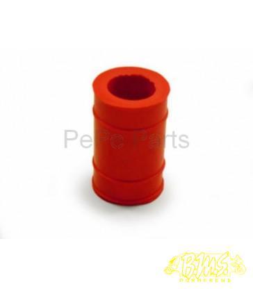 rubber uitlaat nademper kort 22x30mm rood orig