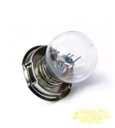 6volt-15wat kleur BL GEEL Lamp met kraag