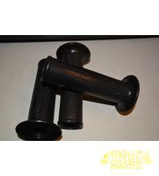 Handvatten zwart rubber links 22m met visgraat motief