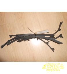 6 x lang rubber treeplank Vespa LX50 framenr.ZAPC38402 Afgelezen km.stand 20809. bouwjaar 2009