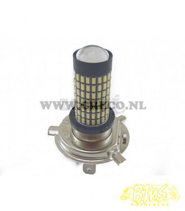 12V-7,5W (35/35W) H4 LED WIT (AANSLUITING OP GELEIKSTROOM)