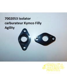 Isolator carburateur + ring inlaatpakking pvc zwart (iP.)