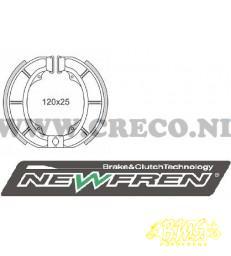Remsegmentenset Merk-Newfren  VOOR EN Achter  120x25