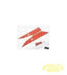 Aprilia SR50 TREEPLANK TRAANPLAAT VOETPLAAT SET rood METRAMORFOSS Aprilia SR50