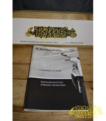 Kreidler GALACTICA 2.0 50 DD instructie boekje