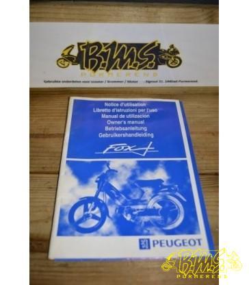 Peugeot fox instructie boekje