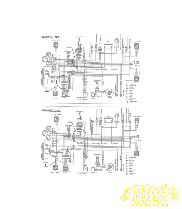 elektrisch schema malaguti rst