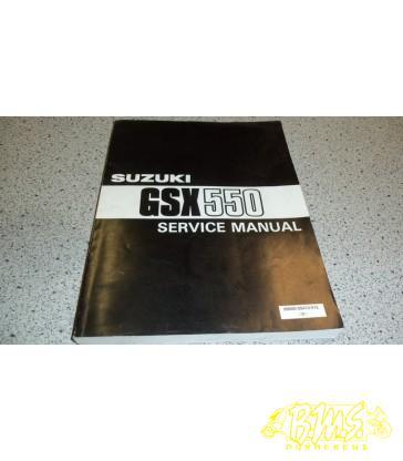 GSX550 Suzuki werkplaats boek